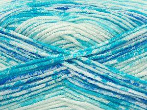 Vezelgehalte 100% Premium acryl, Turquoise Shades, Brand Ice Yarns, Blue, fnt2-71469