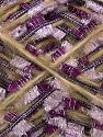 Contenido de fibra 50% Poliéster, 5% Metálicos Lurex, 25% Lana, 10% Poliamida, 10% Acrílico, Purple, Light Lilac, Light Camel, Brand Ice Yarns, fnt2-71255